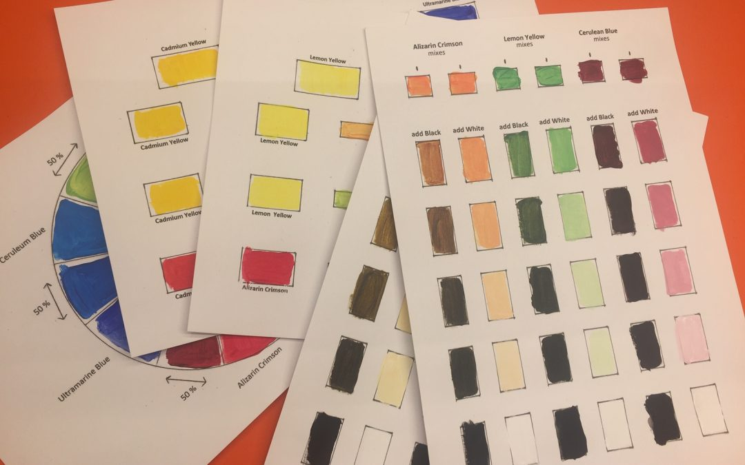 How to paint a colour chart with six colours – part five