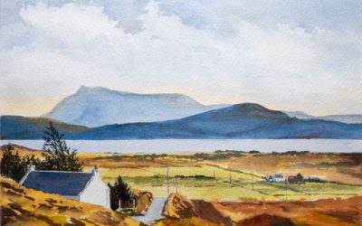 Highland Crofters Watercolour tutorial
